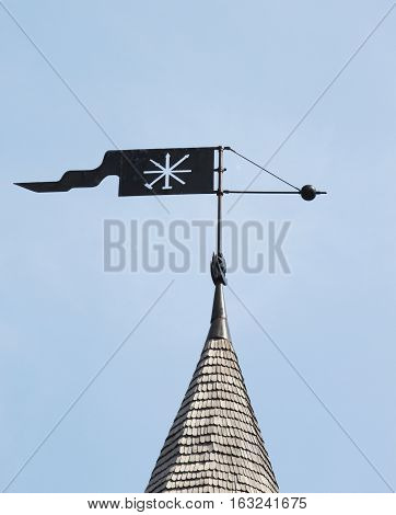 Weather vane of Kamianets-Podilskyi fortress in Ukraine