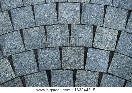 The texture of paving stone masonry close up