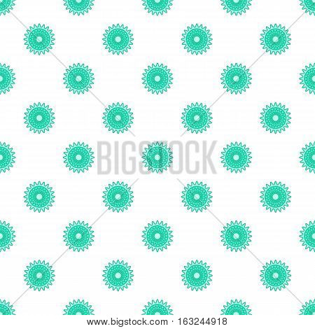Sprocket for bicycle pattern. Cartoon illustration of sprocket for bicycle vector pattern for web