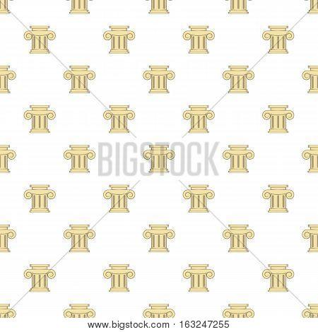 Roman column pattern. Cartoon illustration of roman column vector pattern for web