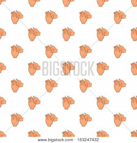 Applause pattern. Cartoon illustration of applause vector pattern for web
