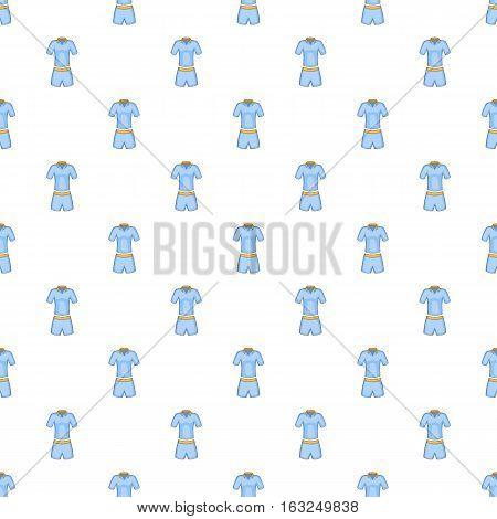 Men tennis uniforms pattern. Cartoon illustration of men tennis uniforms vector pattern for web