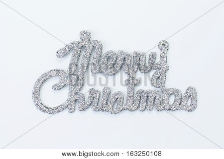 """the silver """"merry christmas on white background"""""""