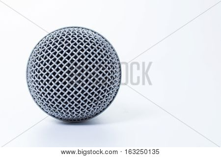 top view pattern on the dynamic microphone