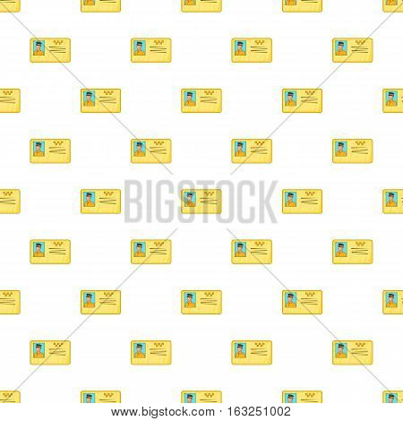Document taxi driver pattern. Cartoon illustration of document taxi driver vector pattern for web
