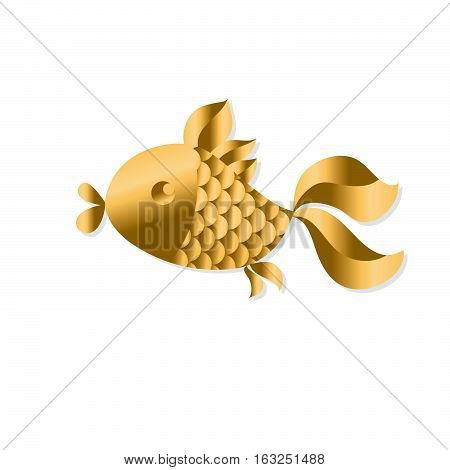 gold fish Art Nouveau style vector illustration