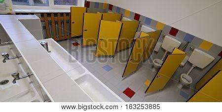 Kindergarten Children Bathroom With Small Water
