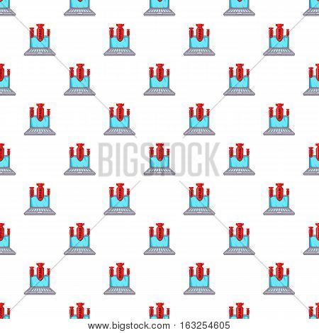 Spam on laptop pattern. Cartoon illustration illustration of spam on laptop vector pattern for web