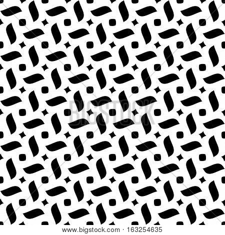 Rhombus abstract seamless pattern. Fashion graphic background design. Abstract texture. Monochrome template for prints textiles wrapping wallpaper website etc. Vector illustration