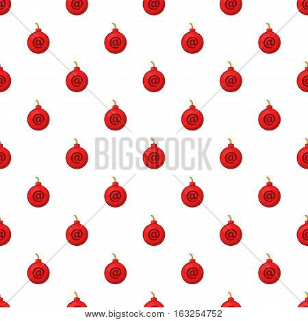 Bomb in e-mail pattern. Cartoon illustration illustration of bomb in e-mail vector pattern for web