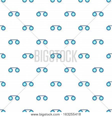 Sport binoculars pattern. Cartoon illustration of sport binoculars vector pattern for web