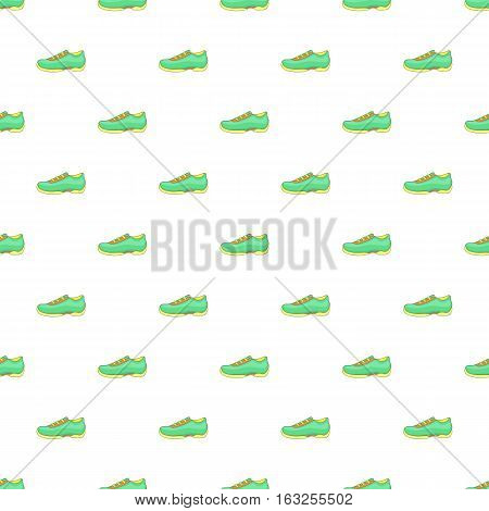 Men sneakers pattern. Cartoon illustration of men sneakers vector pattern for web