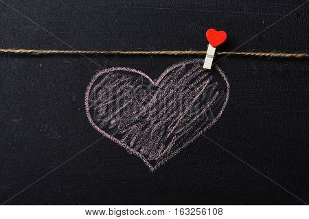 Heart Painted By Chalk