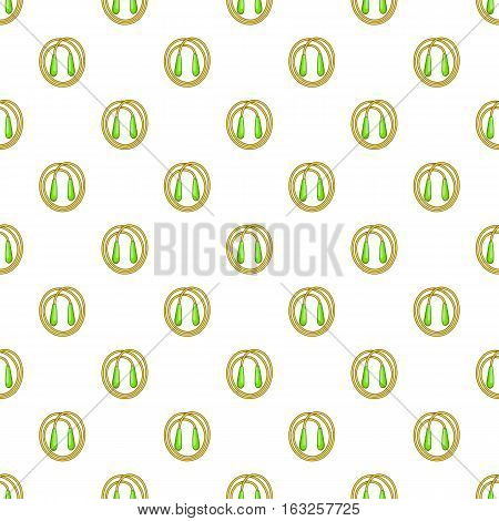 Skipping rope pattern. Cartoon illustration of skipping rope vector pattern for web