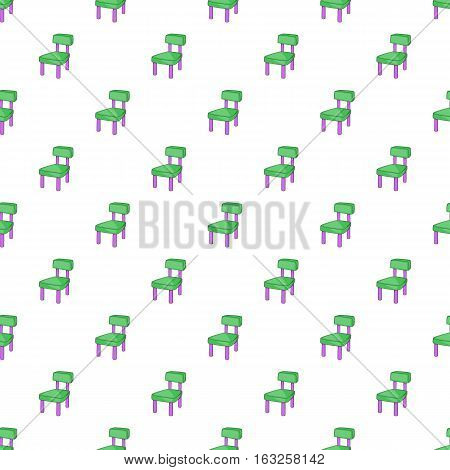 Chair pattern. Cartoon illustration of chair vector pattern for web