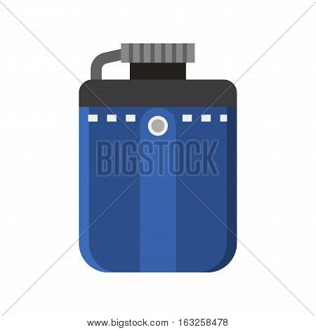 Tourist flask vector icon. Hiking water bottle illustration in flat design. Hip flask isolated on white background.