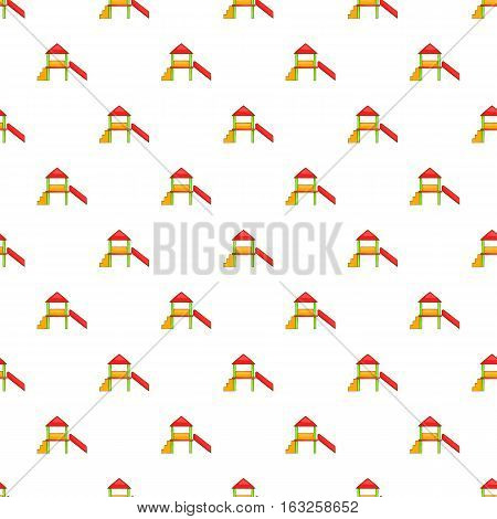 Slide house pattern. Cartoon illustration of slide house vector pattern for web