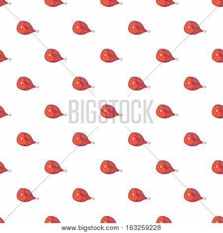 Ham pattern. Cartoon illustration of ham vector icon