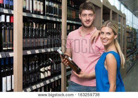 Couple Shopping Wine