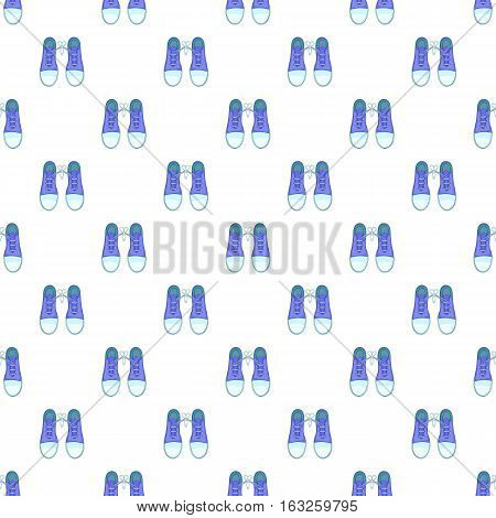 Tied laces on shoes pattern. Cartoon illustration of tied laces on shoes vector pattern for web