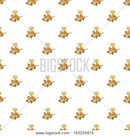 Clockwork mouse pattern. Cartoon illustration of clockwork mouse vector pattern for web