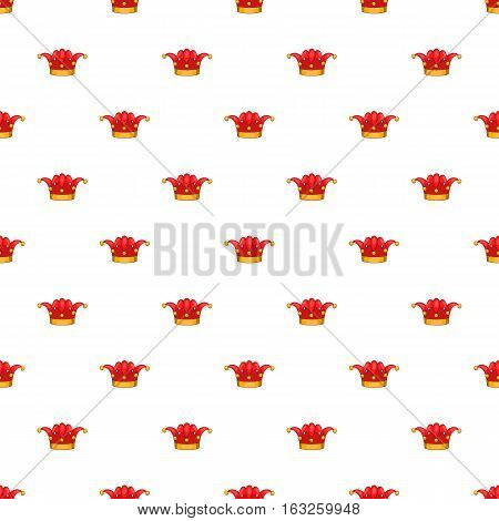Clown hat pattern. Cartoon illustration of clown hat vector pattern for web