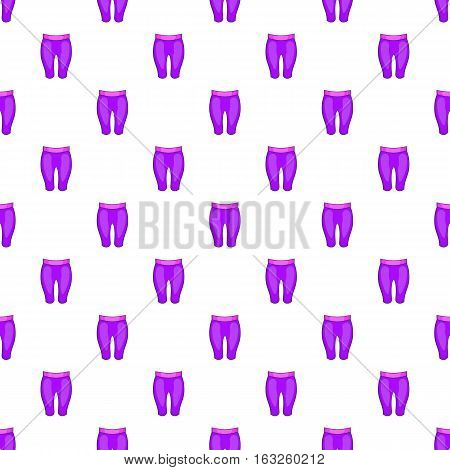 Women sport pants pattern. Cartoon illustration of women sport pants vector pattern for web