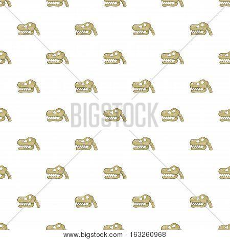 Skull of dinosaur pattern. Cartoon illustration of skull of dinosaur vector pattern for web