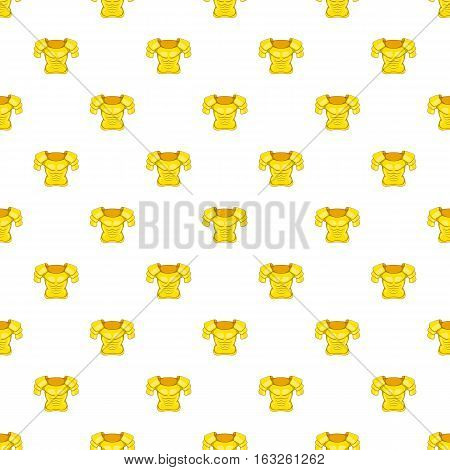 Iron armor pattern. Cartoon illustration of iron armor vector pattern for web