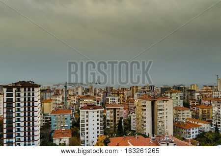 Aerial View Of Kadikoy District Of Istanbul City