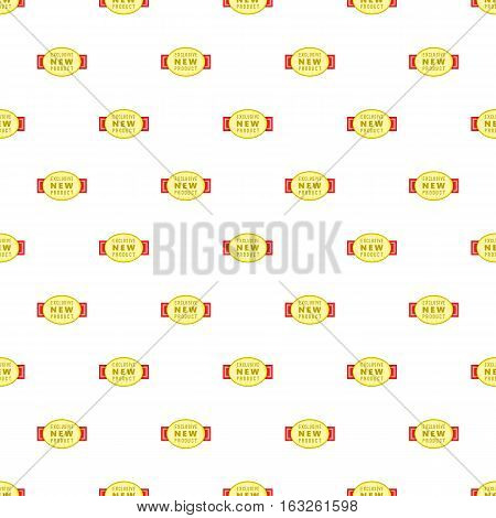 Label exclusive new product pattern. Cartoon illustration of label exclusive new product vector pattern for web