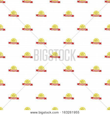 Label round premium quality pattern. Cartoon illustration of label round premium quality vector pattern for web