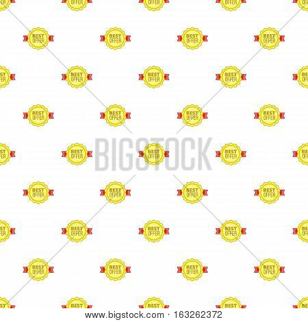 Tag best product pattern. Cartoon illustration of tag best product vector pattern for web