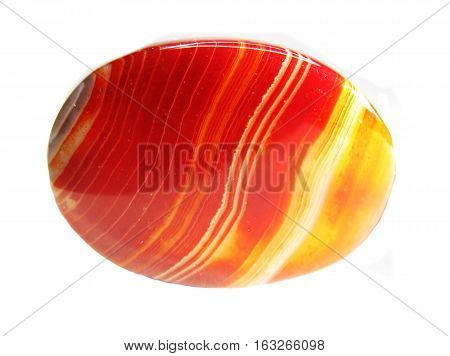 red carnelian semigem geological crystal isolated red