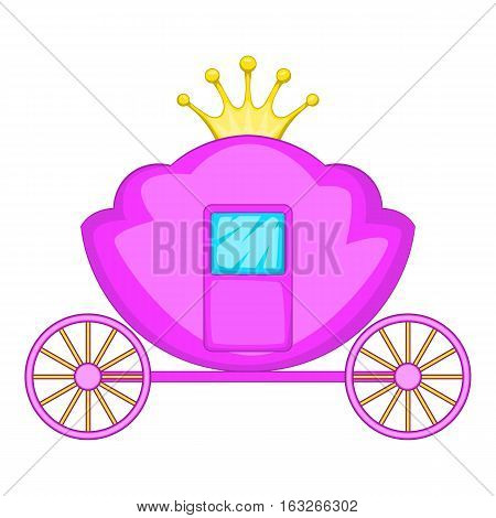 Carriage icon. Cartoon illustration of carriage vector icon for web design