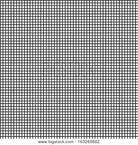 Black and white grid square. Seamless vector pattern