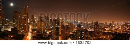 Chicago Aerial Night Pano