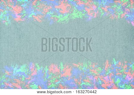 Vivid  painting closeup texture background with  pink, green and different  vivid  vibrant colorful creative patterns