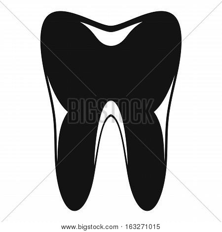 Human tooth icon. Simple illustration of human tooth vector icon for web