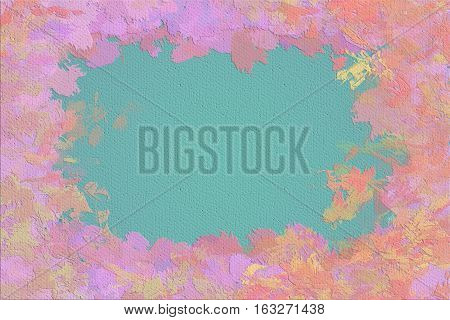 Vivid  painting closeup texture background with  pink, and different  vivid  vibrant colorful creative patterns