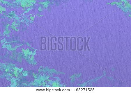 Vivid  painting closeup texture background with blue and purple  vivid  vibrant colorful creative patterns