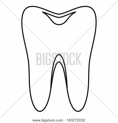 Tooth icon. Outline illustration of tooth vector icon for web