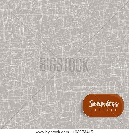 Vector seamless scribble texture, made of lines. Grey color.