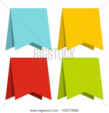 Color pennants icon. Flat illustration of color pennants vector icon for web
