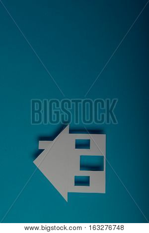 House Shaped Paper Cutout
