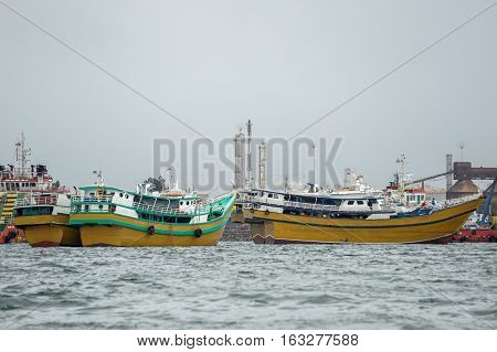 Labuan,Malaysia-Dec 27,2016:Barter trade ships or vessels from the Philippines in Labuan sea on 27th Dec 2016.Labuan island became a major trade in Borneo.