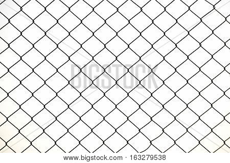 A metal protective net. Wire fence texture