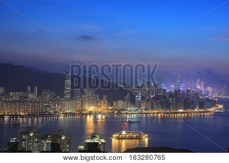 Victoria Harbor With North Point At Hk