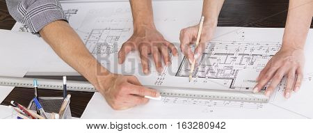Architects Creating Home Floor Plan