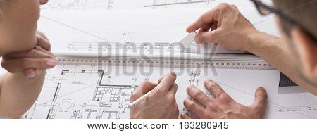 Architects Working On Home Plans